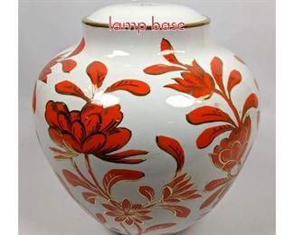 Lot 1456 Orange and white italian lamp base