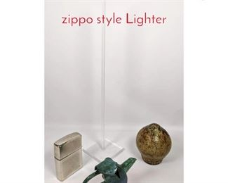 Lot 1457 Pottery, Lucite and Large zippo style Lighter