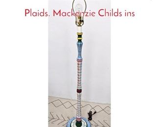 Lot 1462 Whimsical Small Floor lamp Plaids. Mackenzie Childs ins