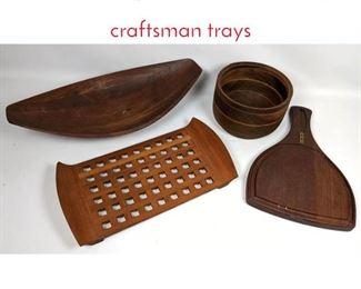 Lot 1463 4 pcs Teak ware Dansk, craftsman trays