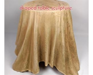 Lot 1465 SURO PLAST Italy plastic draped table sculpture.