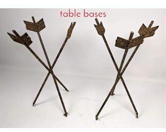 Lot 1466 2 small ARROW iton table bases