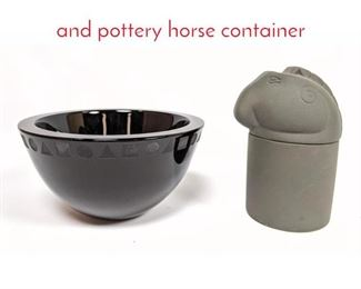 Lot 1475 SASAKI Ward Bennet bowl and pottery horse container