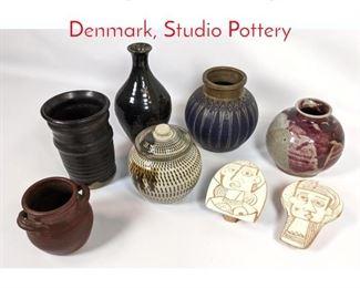 Lot 1480 8pc lot Art Pottery Some Denmark, Studio Pottery