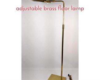 Lot 1490 KOCH and LOWY adjustable brass floor lamp