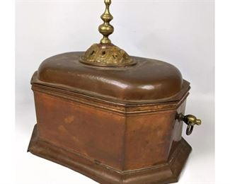Lot 1494 Copper chest with shell accent