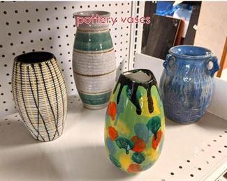 Lot 1505 Shelf lot 4pc European art pottery vases
