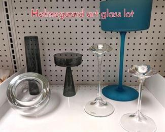 Lot 1510 6pc KOSTA BODA Holmegaard art glass lot