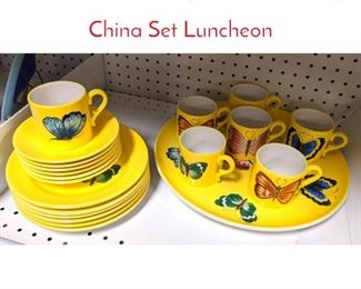 Lot 1518 ESTE Italy Yellow Butterfly China Set Luncheon