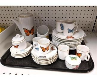 Lot 1519 Bavaria Butterfly china set