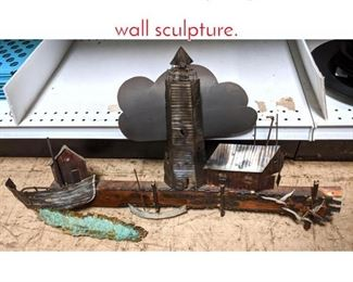 Lot 1524 C LERE style lighthouse wall sculpture.