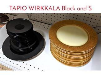 Lot 1525 2 stacks of plates, saucers. TAPIO WIRKKALA Black and S