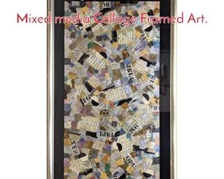 Lot 1158 Large MELANIE BOONE. Mixed media Collage Framed Art.