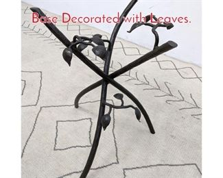 Lot 1159 Decorator Forged Iron Table Base Decorated with Leaves.