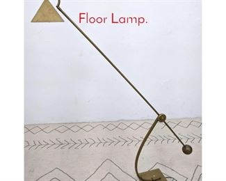 Lot 1166 Brass Counterbalance Floor Lamp.