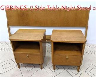 Lot 1167 3pcs T.H. ROBSJOHN GIBBINGS. 2 Side Table Night Stand a