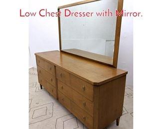 Lot 1168 T.H. ROBSJOHN GIBBINGS. Low Chest Dresser with Mirror.