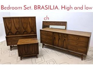 Lot 1174 BROYHILL PREMIER Bedroom Set. BRASILIA. High and low ch