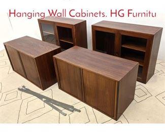 Lot 1177 Thygesen and Sorensen Hanging Wall Cabinets. HG Furnitu