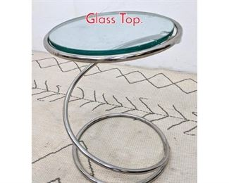 Lot 1182 PACE Spiral Spring Table with Glass Top.