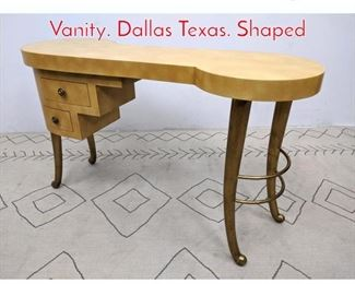 Lot 1184 Decorator OLF Writing Desk Vanity. Dallas Texas. Shaped