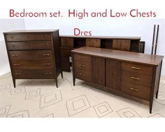 Lot 1187 BROYHILL PREMIER Bedroom set. High and Low Chests Dres