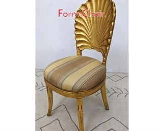 Lot 1191 Gold Gilt Carved Wood Shell Form Chair.