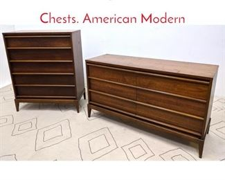 Lot 1193 LANE High and Low Dressers Chests. American Modern