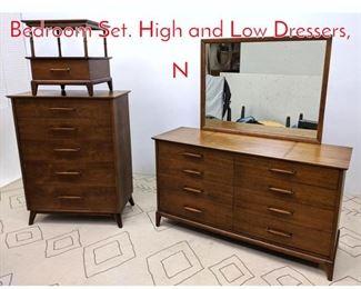 Lot 1200 HERITAGE HENREDON Bedroom Set. High and Low Dressers, N