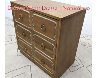 Lot 1202 DOROTHY DRAPER Style 3 Drawer Chest Dresser. Natural wo