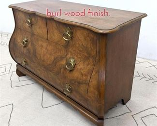 Lot 1203 BAKER Bombay chest with burl wood finish.
