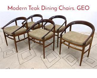 Lot 1211 Set 5 P. JEPPESEN Danish Modern Teak Dining Chairs. GEO
