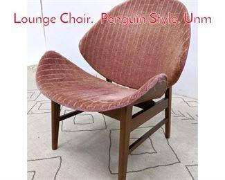 Lot 1213 MidCentury KODA WOOD Lounge Chair. Penguin Style. Unm