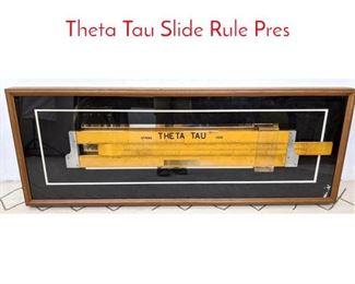 Lot 1214 Oversized Framed Slide rule. Theta Tau Slide Rule Pres