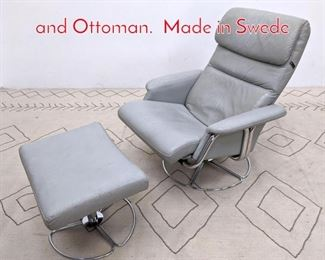 Lot 1215 The Body Chair Lounge Chair and Ottoman. Made in Swede