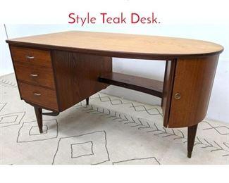 Lot 1216 Mid Century Modern Italian Style Teak Desk.