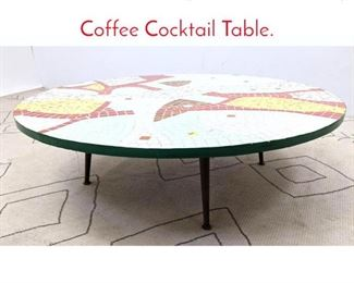 Lot 1221 Mid Century Modern Tile Top Coffee Cocktail Table.