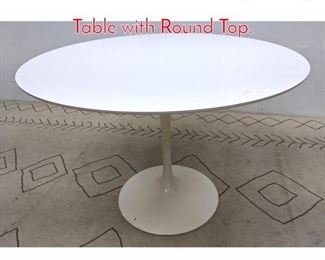 Lot 1222 Knoll Laminate Top Dining Table with Round Top.