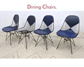 Lot 1223 Set 4 Eames Eiffel Tower Side Dining Chairs.