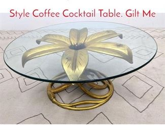 Lot 1228 Large ARTHUR COURT Style Coffee Cocktail Table. Gilt Me