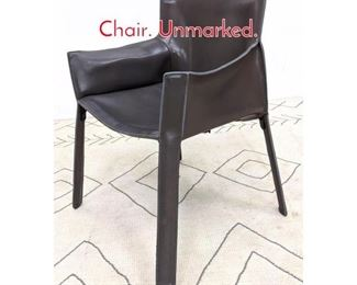 Lot 1230 Italian Stitched Leather Arm Chair. Unmarked.