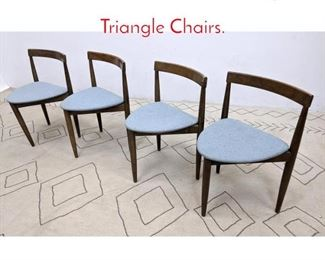 Lot 1233 Set 4 Hans Olsen Style Triangle Chairs.