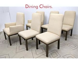 Lot 1234 Mastercraft Style Brass Base Dining Chairs.
