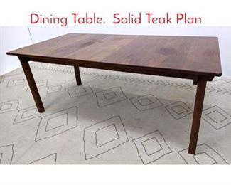 Lot 1235 KURT OSTERVIG Solid Teak Dining Table. Solid Teak Plan