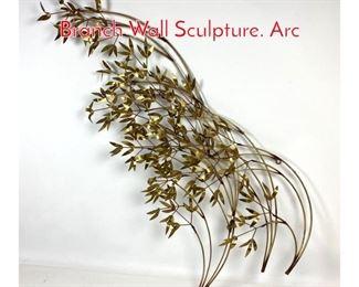 Lot 1236 C. JERE Brass Modernist Tree Branch Wall Sculpture. Arc