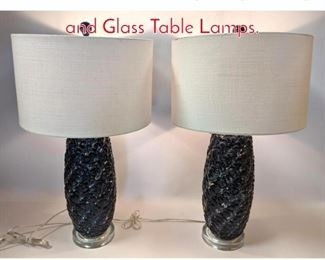 Lot 1242 Pair Contemporary Pottery and Glass Table Lamps.