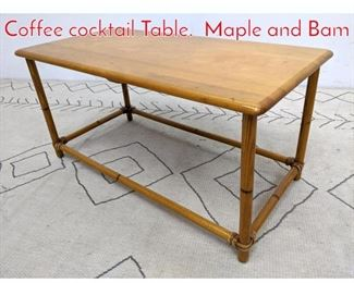 Lot 1255 HEYWOOD WAKEFIELD Coffee cocktail Table. Maple and Bam