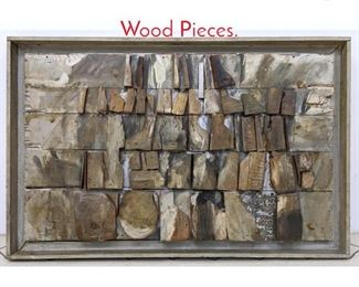 Lot 1258 Rustic Painted Assemblage Wood Pieces.