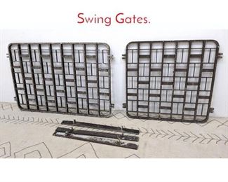 Lot 1259 Pair Art Deco Aluminum Swing Gates.