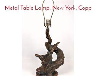 Lot 1263 P. HAYWARD Branch Form Metal Table Lamp. New York. Copp